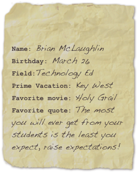 Name: Brian McLaughlin...